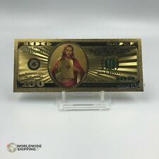 Billet de 100 US Dollars Jesus Christ Gold / Carte Card Or God / USA 100$