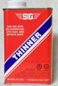 Thinner 8oz Can Thinner for SIG Supercoat and Lite Coat, Pint SD106