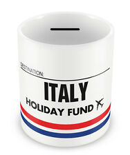 ITALY Holiday Fund Money Box - Gift Idea Travelling Savings Piggy Bank