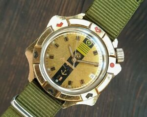 Men's Watch Vostok Komandirskie Admiral's Diver's Watch Military Navy USSR