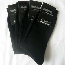 4 Paar XXL Herren Socken Cocain glatte Struktur 100% Baumwolle schwarz 47 - 50