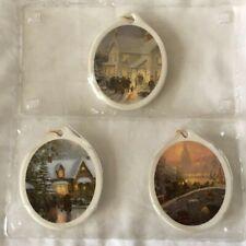 Lot 3 Vintage New Kurt S Adler Thomas Kinkade 1991 1993 2007 Christmas Ornament