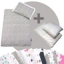 Bettwäsche-Set 4-tlg. für Kinderwagen Babybett Decke+Kissen+Füllung (STARS 1)