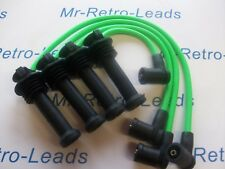 LIME GREEN 8MM IGNITION LEADS FORD FOCUS ST170 1.8 2.0 AS KAWASAKI GREEN HT..