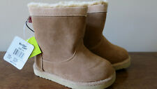"Western Chief Kids' Girls Pull-on Plush Fashion Boot Sz 11 Color Peanut ""Makena"""