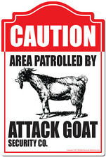 Area Patrolled By Attack Goat Decal | Funny Home Decor Garage Wall