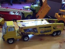 TONKA Car Carrier in Yellow 1960's with RAMP - Metal Toy Vehicle