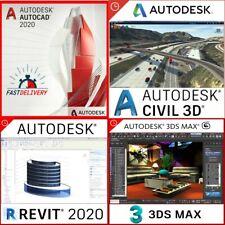4 Collection Pack Autodesk 2020 (Autodesk: Autocad + 3D MAX + Revit + 3D civil)