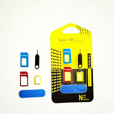 Nano SIM Card to Micro Standard Converter Adapter Set For iPhone 6S 5S 5C 4 4S