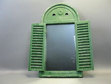 Wall Mirror made from wood with shutters OLD GREEN 75 cm x 57 cm