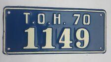 1970 New York license Plate Town of Hempstead Long Island NY Original  #1149