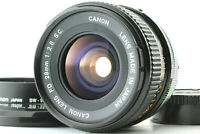 【Mint w/ Hood 】 Canon FD 28mm f/2.8 s.c. sc Wide Angle MF Lens From JAPAN