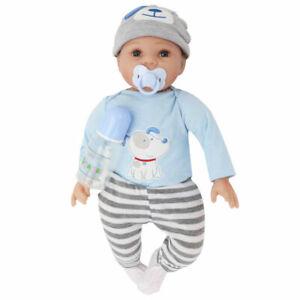 55CM Rebornpuppen Baby Silikon-Vinyl Puppe Weich Kinder Handgefertigt DHL