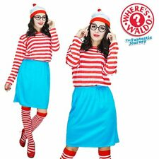 Womens Wenda Costume Adult 1980s TV Where's Wally Fancy Dress Book Week Outfit