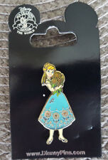 Disney Parks Pin Frozen Fever Anna Birthday Dress Sunflowers New On Card Common