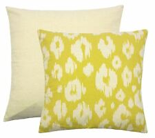 """LEOPARD PRINT STYLE OCHRE YELLOW CREAM TAPESTRY CUSHION COVER 18"""" - 45CM"""