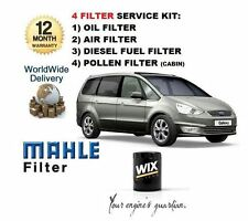FOR FORD GALAXY 2.0 TDCi 5/2006-2010 SERVICE KIT OIL AIR FUEL POLLEN FILTER KIT
