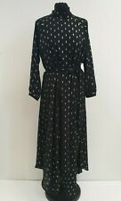 I816 WOMENS BNWT RRP £55 SONDER BLACK GOLD LIGHTWEIGHT BELT EVENING DRESS UK 14