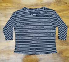 BODEN LADIES GORGEOUS in Black Stripes oversized Top Size 14. WL922 BRAND NEW.