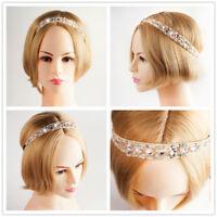 Mädchen Spitze Perle Haarband Strass Kristall Stirnband Kopfstück