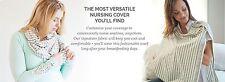 New Nuroo Nursing Cover Scarf Breastfeeding Hooter Hider Covers Gray Stripe