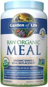 Garden of Life Meal Replacement Vanilla Powder, 28 Servings, Organic Raw Plant B