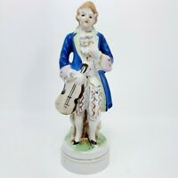 Occupied Japan Porcelain Figurine Colonial  Musician Violin Player Hand Painted