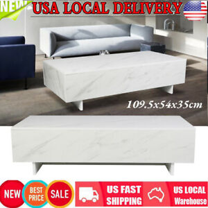 Modern Style Marble Coffee Table High Gloss Tea Table for Living Room Decor