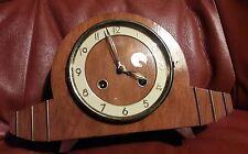 SMALL FRANZ HERMLE 2KEY TING/TANG STRIKING MANTLE CLOCK & KEY IN E.W.O FHTT