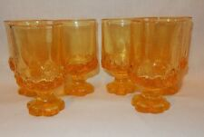 Set of 6 Franciscan Madeira Cornsilk Yellow Wine Juice Goblet Glass 1970's