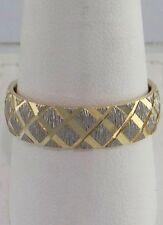 MENS LADIES 14K YELLOW GOLD DIAMOND CUT WEDDING BAND RING FINE JEWELRY 6mm