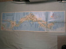 JAPAN MAP + HISTORICAL TIMELINE National Geographic June 1984 MINT