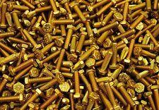 (400) Hex Head Bolts 1/4-20 x 1 Grade 8 Yellow Zinc USA Made