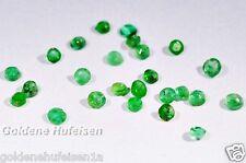 100% Echter Smaragd Brilliant Facettiert Rund 2 mm aus Sambia Mine 2,0mm / uz001