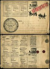 ADVERTISING c1900 BIRCH CARRIAGES ILLUSTRATED LARGE ENVELOPE