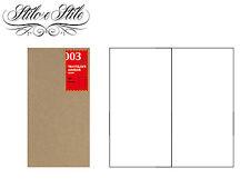 Midori Blank Notebook | Refill Midori 003 | Traveler's Notebook Regular Size