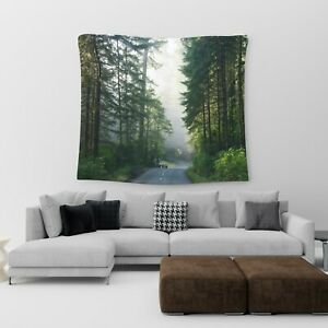 Large Wall Hanging Tapestry Forest Road Cotton Print Art Bedspread Throw Cover