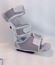 Procare Orthopedic Walking Brace Boot Fleece Lined Universal Gray Ankle Leg Foot