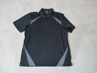 Mercedes Benz Polo Shirt Adult Medium Black Gray Dri Fit German Automobile Mens