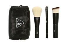 [STYLE NANDA] MESH BRUSH KIT Make-up Brush / 3ea Brush& Mesh Poutch  K-beauty
