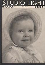 Studio Light Magazine Photography Eastman Kodak April 1936 Cute Child