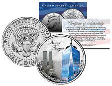 WORLD TRADE CENTER * 14th Anniversary * Colorized JFK Half Dollar Coin 9/11 WTC