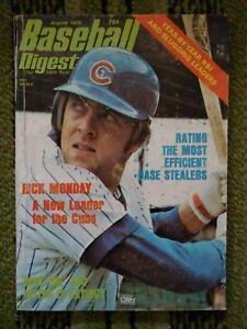Vintage Baseball Digest August 1975 Rick Monday Chicago Cubs MLB NO LABEL