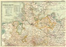 GERMANY NORTH.Prussia Hannover Brandenburg.Shows battlefields/dates 1903 map