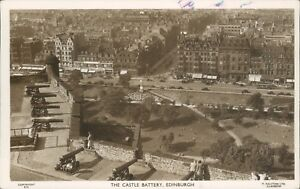 Real photo Edinburgh the castle battery ralston series 1954