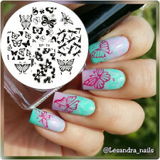 Nagel Schablone BORN PRETTY Nail Art Stamp Stamping Template Plates BP74