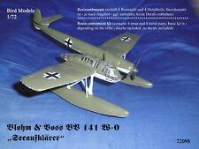 "Blohm & Voss BV 141 w-0 ""Patrol"" 1/72 Bird MODELS CONVERSION KIT/CONVERSION"