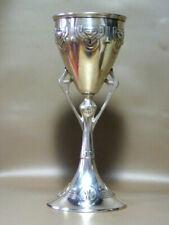 Early 1900 Jugendstil Secessionist Metal Silver Vase