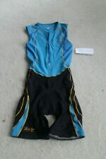 Zoot Small Trifit Racesuit Triathlon Tri race suit blue & black Nwt *Free Ship*