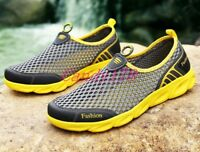 Summer Mens Water Mesh Breathable Slippers Slip On Outdoor Beach Sandal Shoes